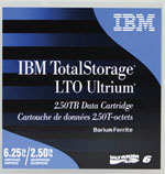 IBM LTO-6 Tape Media 2.5TB Native/ 6.25TB Compressed LTO-6 Data Cartridge Part# 00V7590