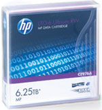 HP LTO-6 Tape Media 2.5TB Native/ 6.25TB Compressed LTO-6 Ultrium Data Cartridge Part# C7976A
