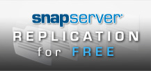 Purchase any two rackmount NAS SnapServers and get Data Replication EDR FREE!